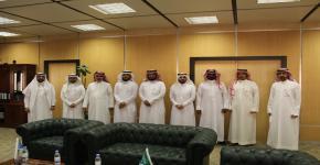 زيارة وفد من جامعة القصيم لعمادة شؤون القبول والتسجيل