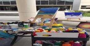 """""""الرسم الحُر"""" من جديد في المدينة الجامعية للطالبات"""