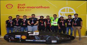 فريق جامعة الملك سعود من كلية الهندسة يحرز مركزاً متقدماً في ماراثون شل-آسيا للسيارات الصديقة للبيئة