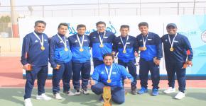 كرة المضرب بالعلامة الكاملة بطلاً  للجامعات السعودية
