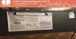 طالبة الماجستير نائلة العقيل تشارك في المؤتمر الدولي للأنظمة التفاعلية