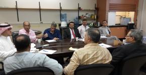 الاجتماع الأول للجنة التقويم و الاعتماد الأكاديمي بقسم الجيولوجيا و الجيوفيزياء