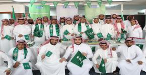 كلية المجتمع تحتفل باليوم الوطني للمملكة