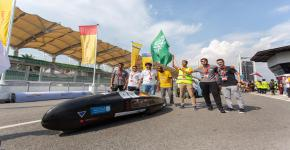 """""""فريق سعف"""" من كلية الهندسة يحقق مراكز متقدمة في  ماراثون شل البيئي-آسيا 2019م للسيارات الصديقة للبيئة"""