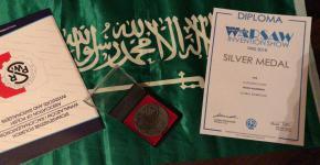 الطالبة الموهوبة مها البراك تحصد الميدالية الفضية بمعرض وارسو الدولي