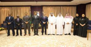 وكيل جامعة الملك سعود يستقبل وزير التعليم العالي والبحث العلمي بجمهورية جيبوتي