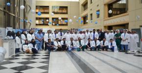 انطلاق حملة الوطنية التاسعة للتوعية بانحرافات العمود الفقري بجامعة الملك سعود