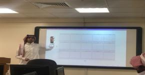 قسم علوم الحاسب في كلية المجتمع يعقد محاضرة في النمذجة الإحصائية للمواضيع