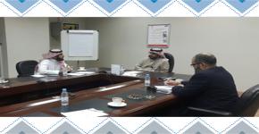 المركز يبحث سبل التعاون مع عمادة تطوير المهارات بجامعة الملك سعود