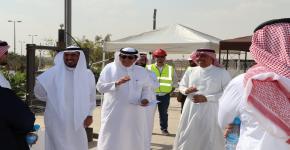 معالي مدير الجامعة يزور مشروع المنزل الشمسي للجامعة
