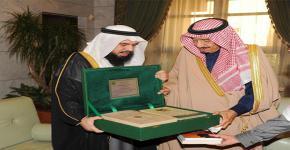 أمير منطقة الرياض يستقبل سعادة المشرف على كرسي السيرة النبوية