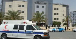 إخلاء تجريبي في كلية طب الأسنان بالمدينة الجامعية للطالبات