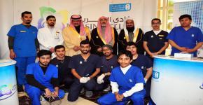 نادي التمريض يمثل جامعة الملك سعود في الاسبوع التوعوي لمعرض آمن٢