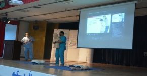 كلية التمريض تقيم دورة إسعافيه في سكن طلاب الجامعة