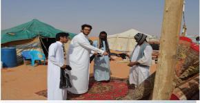تحت شعار (بيئة بلا نفايات) طلاب الكلية يشاركون في حملة نظافة أحد المنتزهات