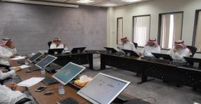 اجتماع لجنة الاستثمار في الكلية