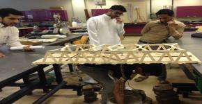 Engineering College Organizes Wooden Bridge Competition