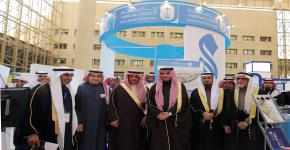 His Excellency the Minister of Education and His Excellency the University Rector Visit the University Endowments' Booth