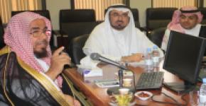 زيارة معالي الشيخ أ.د عبدالله بن محمد المطلق لكلية التربية