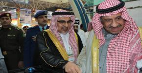 صاحب السمو الملكي الأمير خالد بن سلطان يشرف جناح معهد الأمير سلطان لأبحاث التقنيات المتقدمة (PSATRI) بمعرض القوات المسلحة للمواد وقطع الغيار 2012