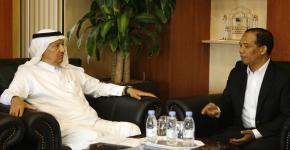 وكيل الجامعة يستقبل نائب مدير جامعة المحمدية بإندونيسيا