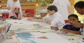 أطفال جمعية إنسان في ضيافة مكتبة الأمير سلمان