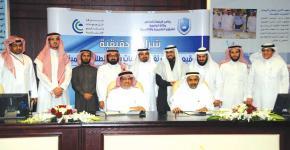 توقيع اتفاقية بين شركة التعهدات والمشاريع الإنشائية وكلية الهندسة