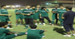 استعدادات منتخب جامعة الملك سعود لكرة القدم