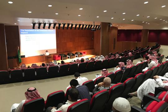 Center of Excellence in Information Assurance organized a workshop on 'Cybersecurity: Future Challenges & Network Defenses' on 12 March 2018 at King Saud Univer ...