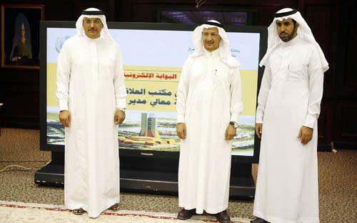 نيابة عن معالي مدير الجامعة، الأستاذ الدكتور عبدالعزيز بن سالم الرويس يدشن مكتب العلاقات المجتمعية