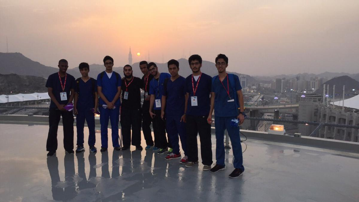 Students of Emergency Medical Services College at the Holy