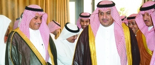 Prince Nawaf  with KSU Rector Al-Omar