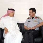 Mohammed Al-Sudairy with Lt. Gen. Al Mufre